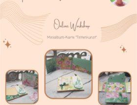 Online Workshop Minialbum Karte Tintenkunst